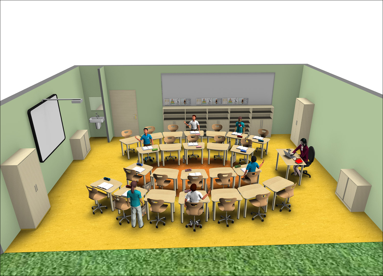 Flexibles klassenzimmer raumkonzepte f r kita for 3d raumplanungsprogramm