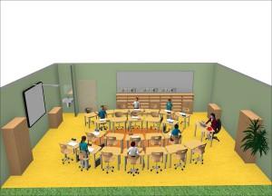 Forminant Gruppenraum für die Schule von oben